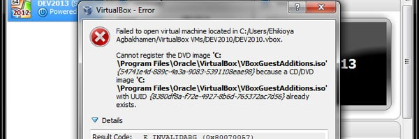 Attached Media Conflicts VirtualBox
