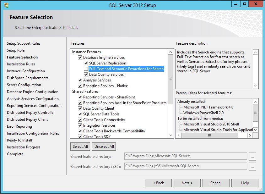 Installing SQL Server for SharePoint