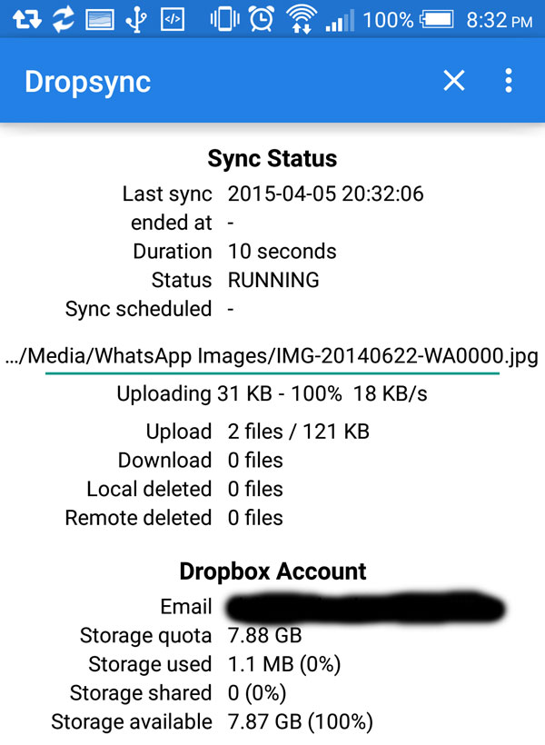 Dropsync-Status