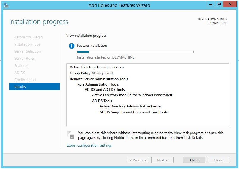 Active Directory Domain Services Installation Windows Server 2012 R2