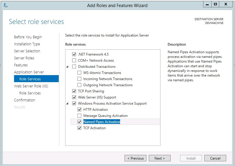 Add Role Services Windows Server 2012 R2