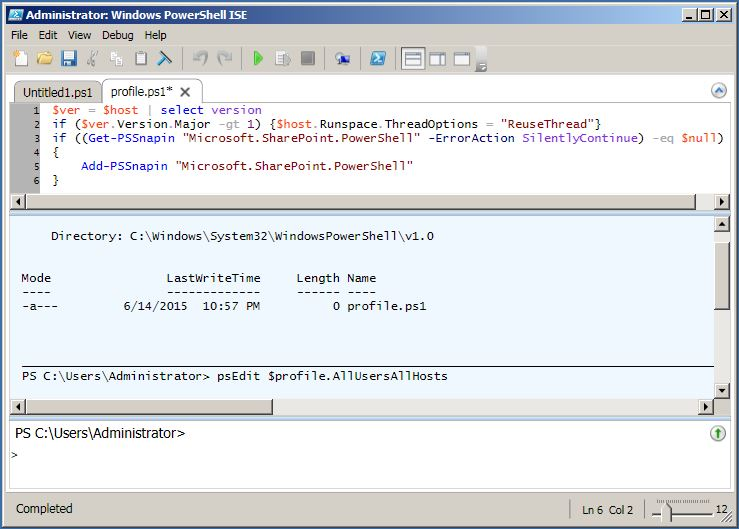 PowerShell ISE AutoLoad SharePoint Snap-In With Profile