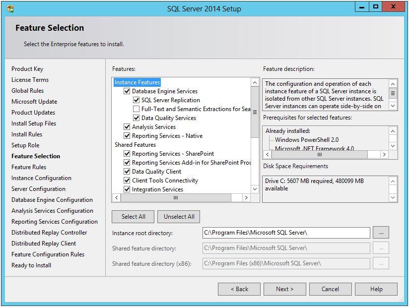 SQL Server 2014 SP1 Installation