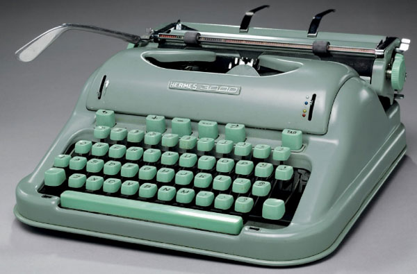 Old Technology Typewriter
