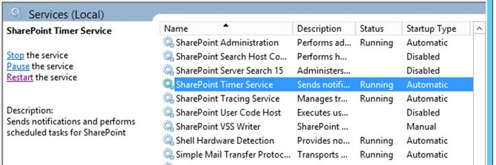 Manually clearing the SharePoint configuration cache