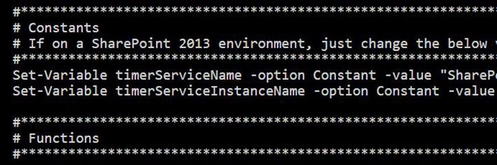 Clearing the SharePoint timer job cache