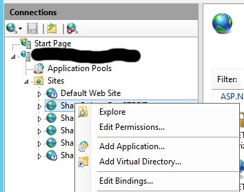 Finding SharePoint web.config file(s) IIS