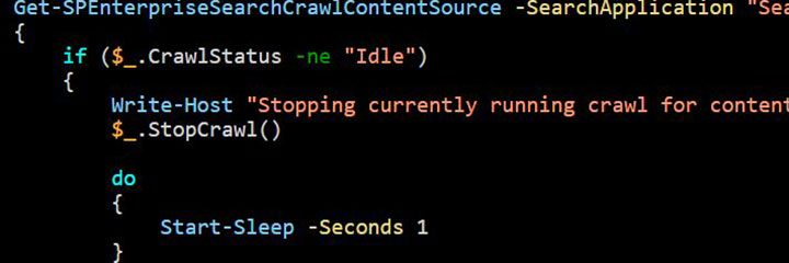 Forcing a full crawl sharepoint