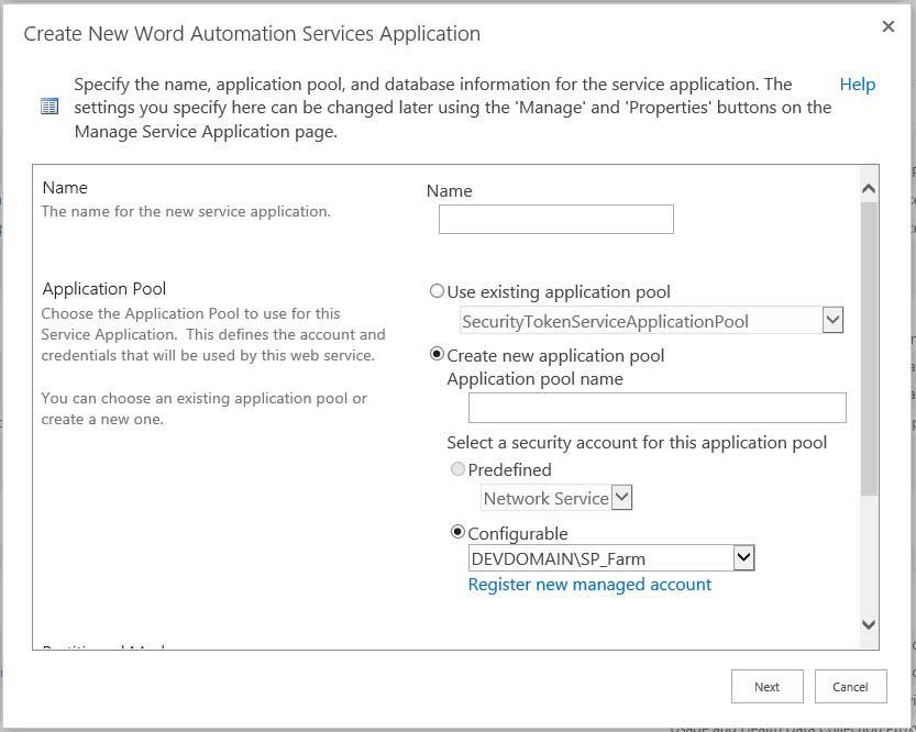 Creating Word Automation Service Application