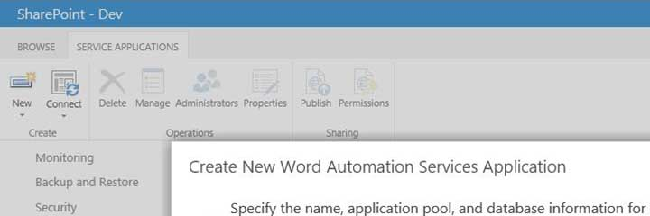 Setting Up Word Automation Services In SharePoint