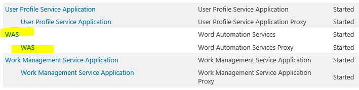 Word Automation Service Application