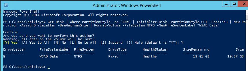 Add new drive to Domain Controller Azure