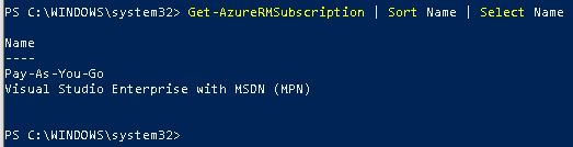 List Azure Subscriptions with PowerShell