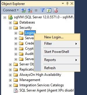 SQL Server Security New Login