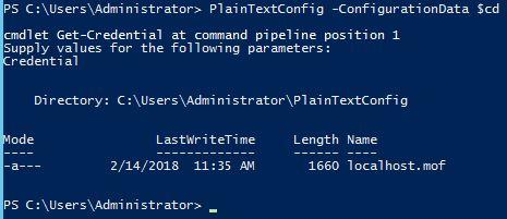 Compiling DSC Script With Plain Password