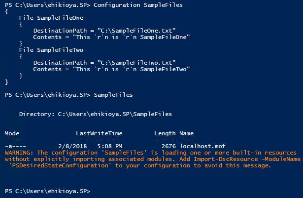 PowerShell Desired State Configuration Example