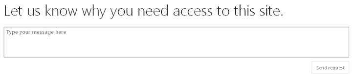 Request site access SharePoint