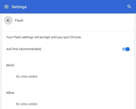 Chrome Running Slow - Google Chrome Flash Permissions