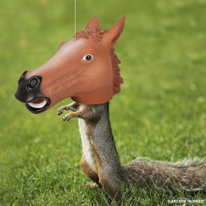 Horse Head Squirrel Feeder [Archie McPhee]