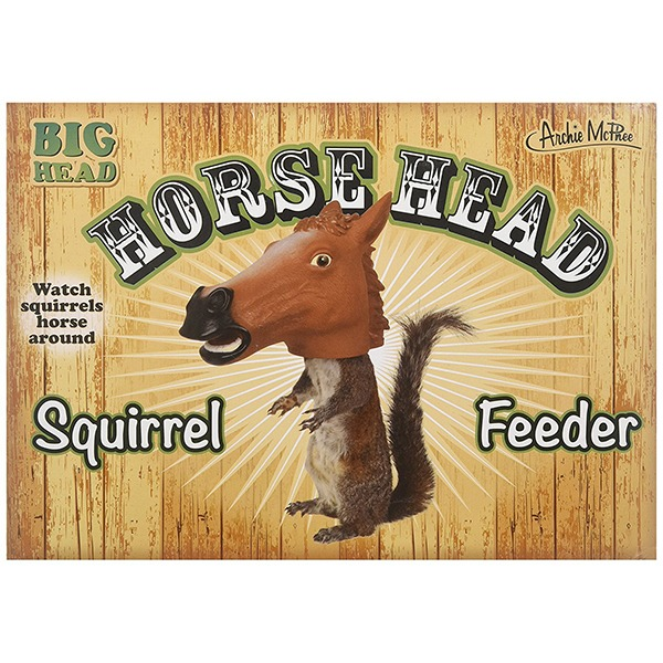 Horse Head Squirrel Feeder [Archie McPhee] - Box Front
