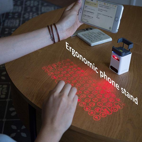 Laser Projection Keyboard and Piano [Serafim Keybo] - Ergonomic Phone Stand