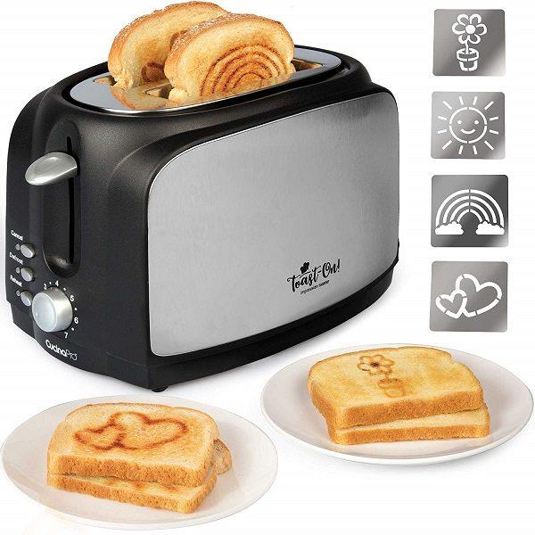 Toast on! Happy Toaster