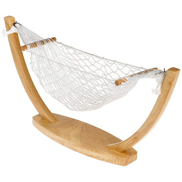 Actual Banana Hammock Stand Alone Wood 2