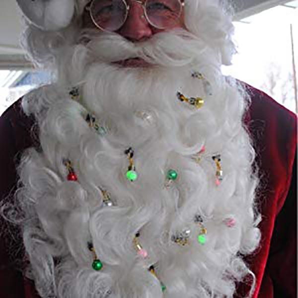Beardaments Beard Ornaments On Santa Claus
