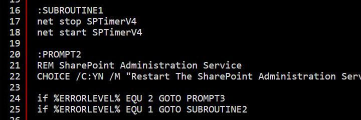 CMD Script To Restart SharePoint Services And IIS