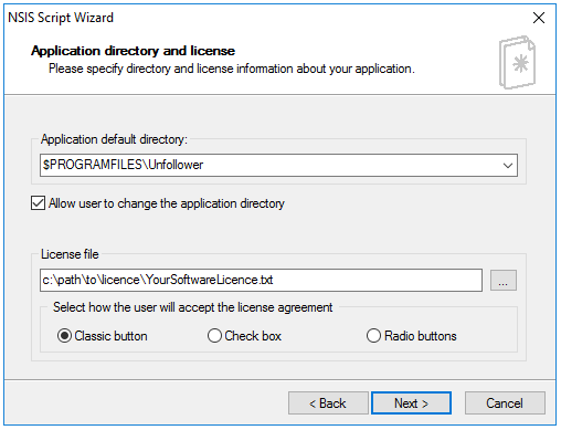 HM NIS Edit - Application Directory And License (NSIS)