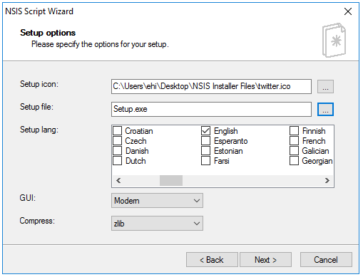 HM NIS Edit - Setup Options (NSIS)