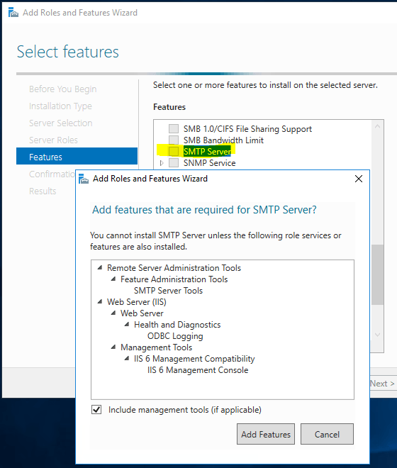 Sending Emails From SharePoint - Add Features