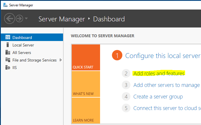 Sending Emails From SharePoint - Add Roles and Features