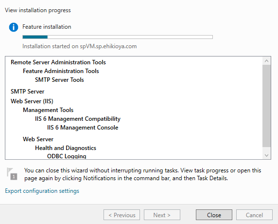 Sending Emails From SharePoint - Installing SMTP Service
