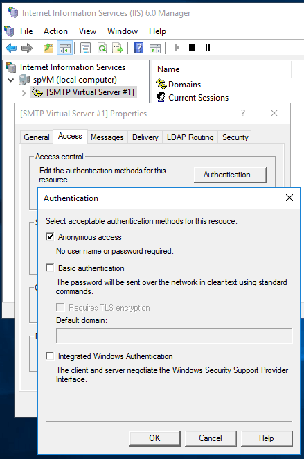 Sending Emails From SharePoint - SMTP Access Authentication