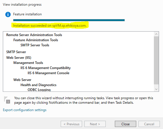 Sending Emails From SharePoint - SMTP Service Install Succeeded