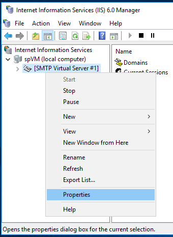 Sending Emails From SharePoint - SMTP Virtual Server Properties