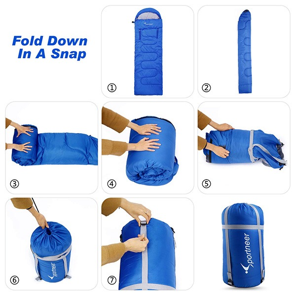 Sportneer Wearable Sleeping Bag [Compact And Quick Storage]