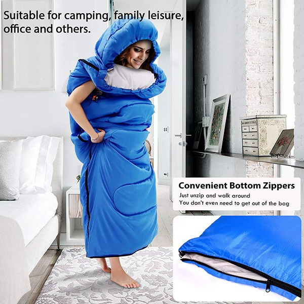 Sportneer Wearable Sleeping Bag (unique zipper design)