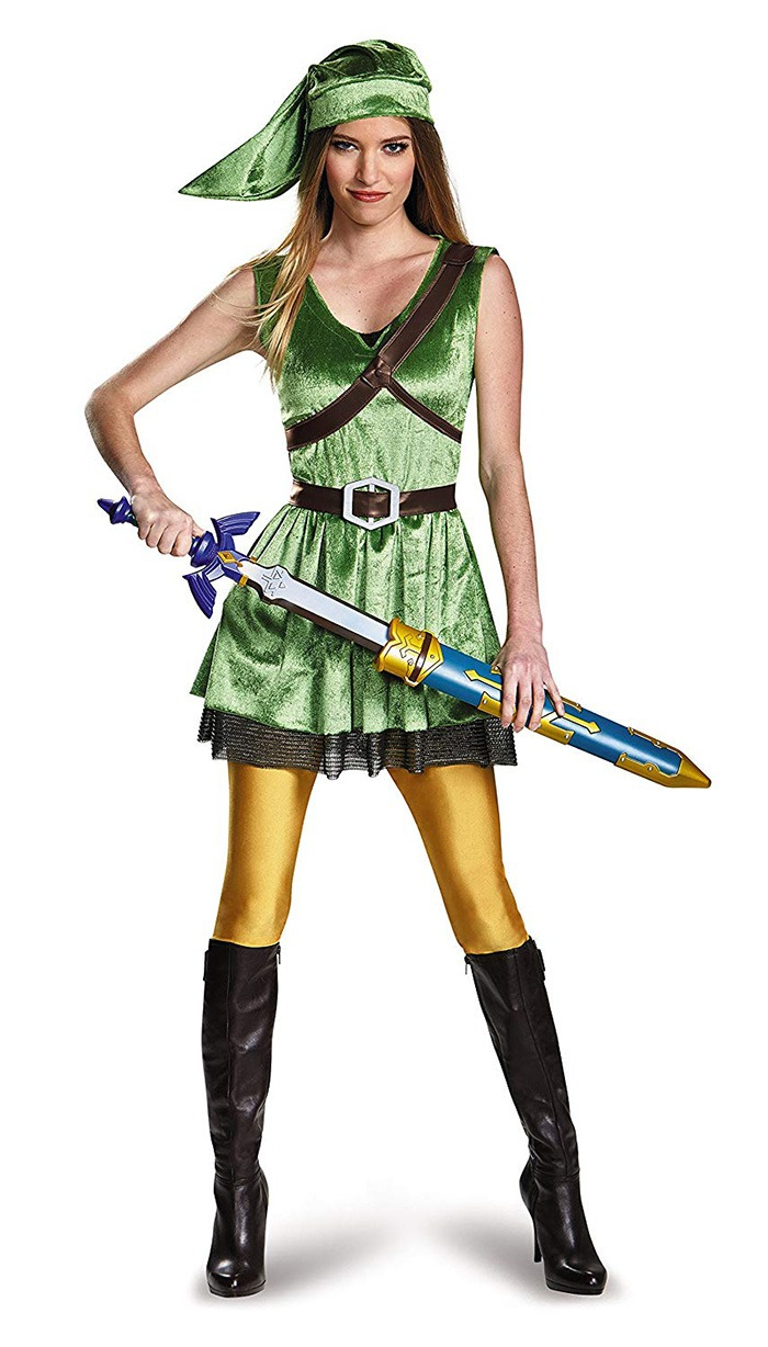 Female Link Holding Legend Of Zelda Master Sword 2