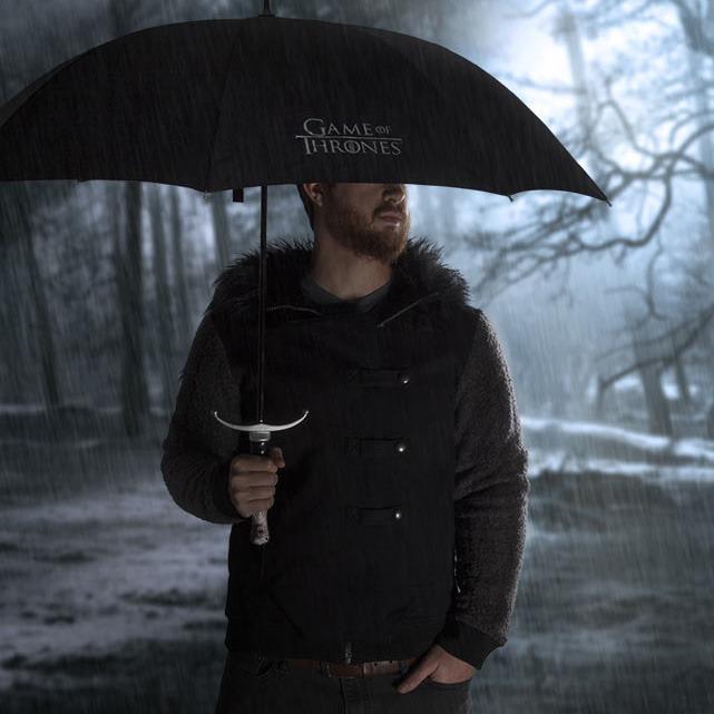 Game of Thrones Sword Umbrella In Use