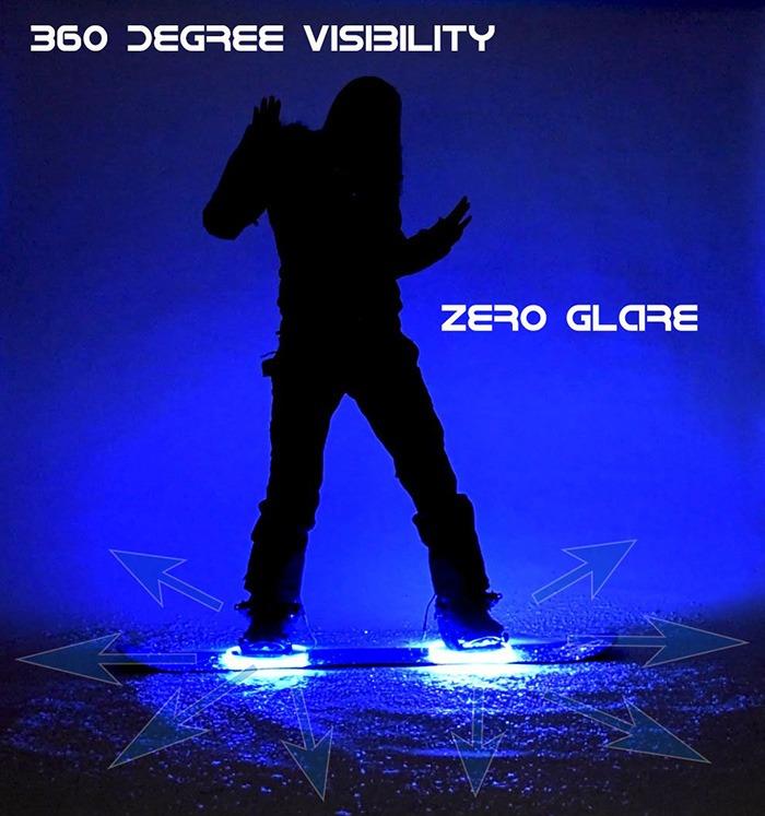 Haloz LED Snowboard Illumination System [360 Degree Visibility]