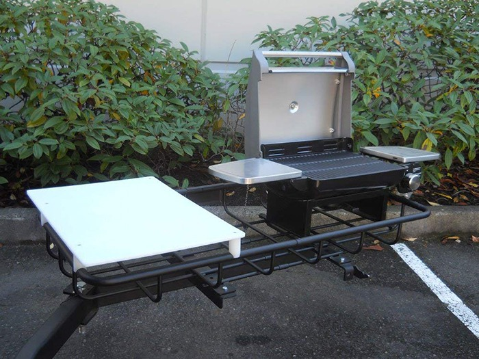 Hitch Mounted Tailgating Grill 2 Full