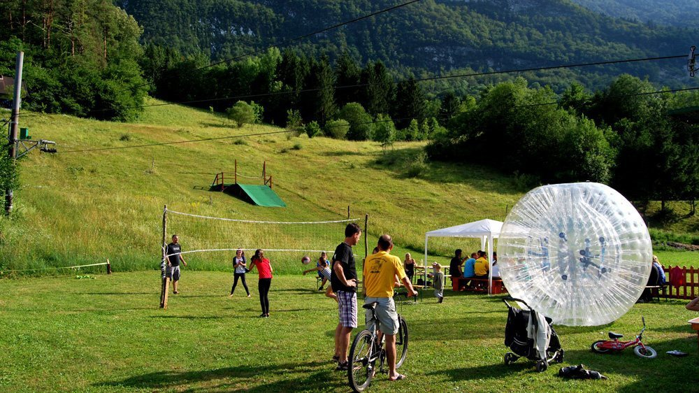 Human Hamster Ball In Camp
