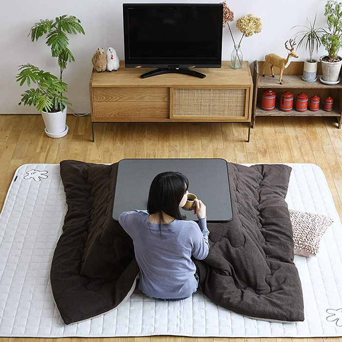 Kotatsu Japanese Heated Table In Living Room
