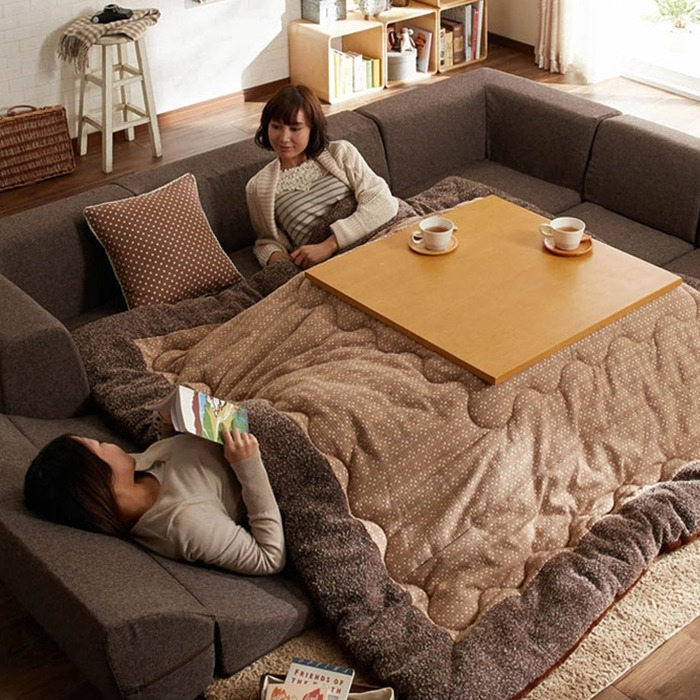Kotatsu Japanese Heated Table With Two People