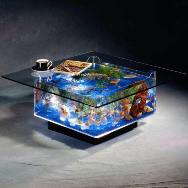 Midwest Tropical Fountain Coffee Table Aquarium Tank