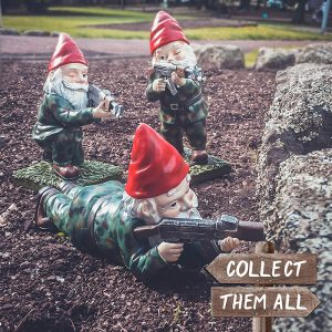 Military Garden & Lawn Gnomes All