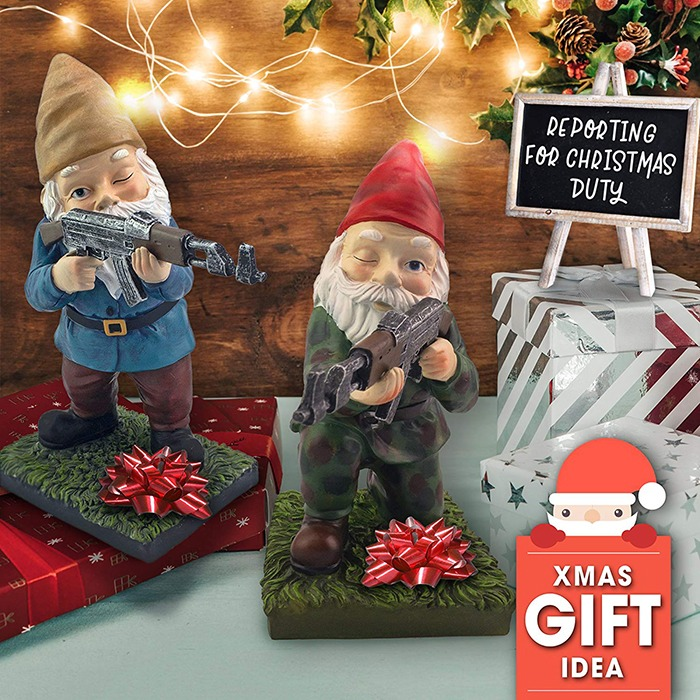 Military Garden & Lawn Gnomes Christmas Gift
