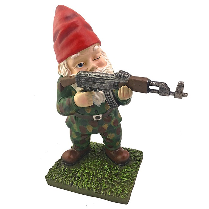 Military Garden & Lawn Gnomes Standing